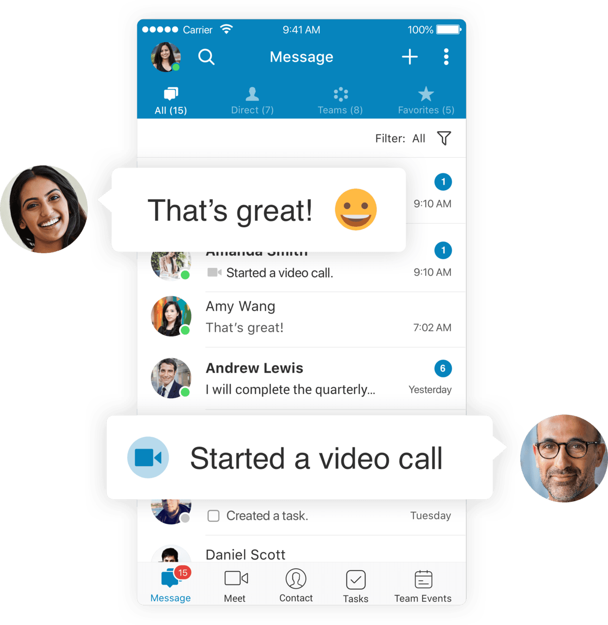 Team messaging and collaboration apps