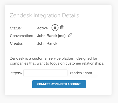 connect to Zendesk