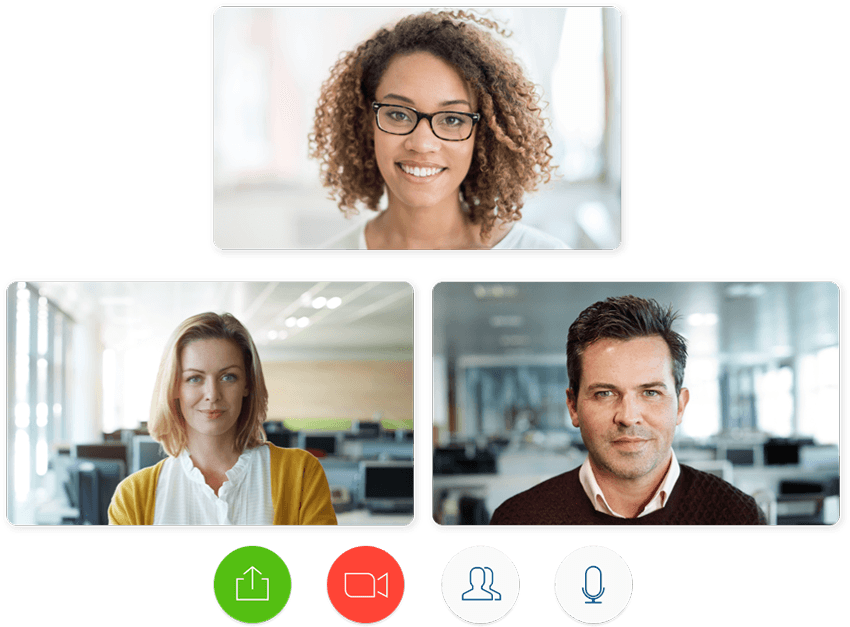 Chat face-to-face with colleagues or candidates