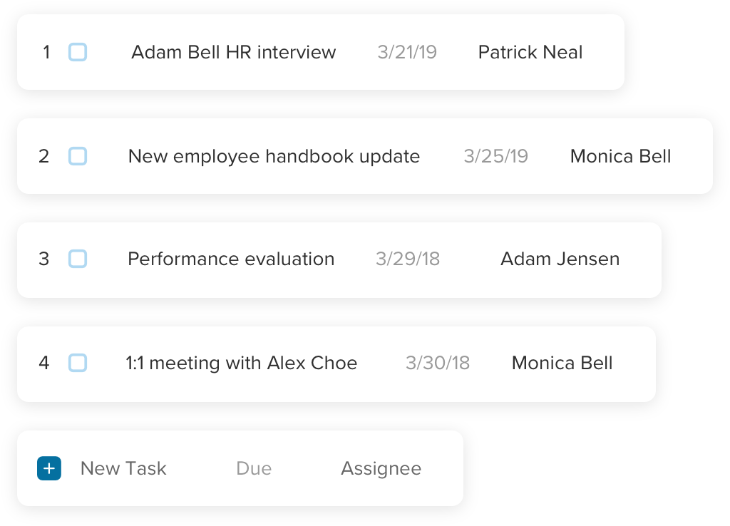 Manage tasks with your team