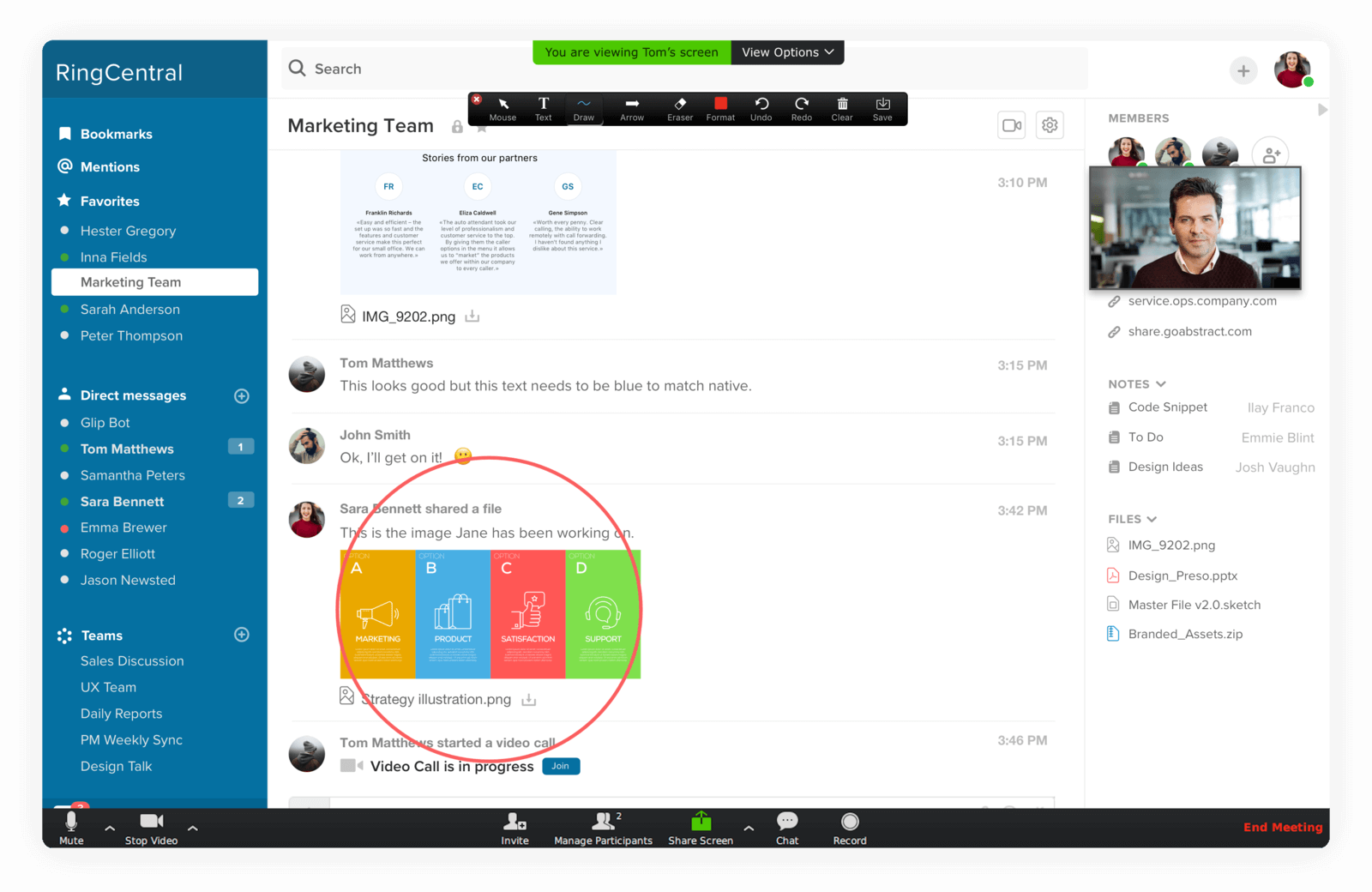Screen share to improve team collaboration and productivity
